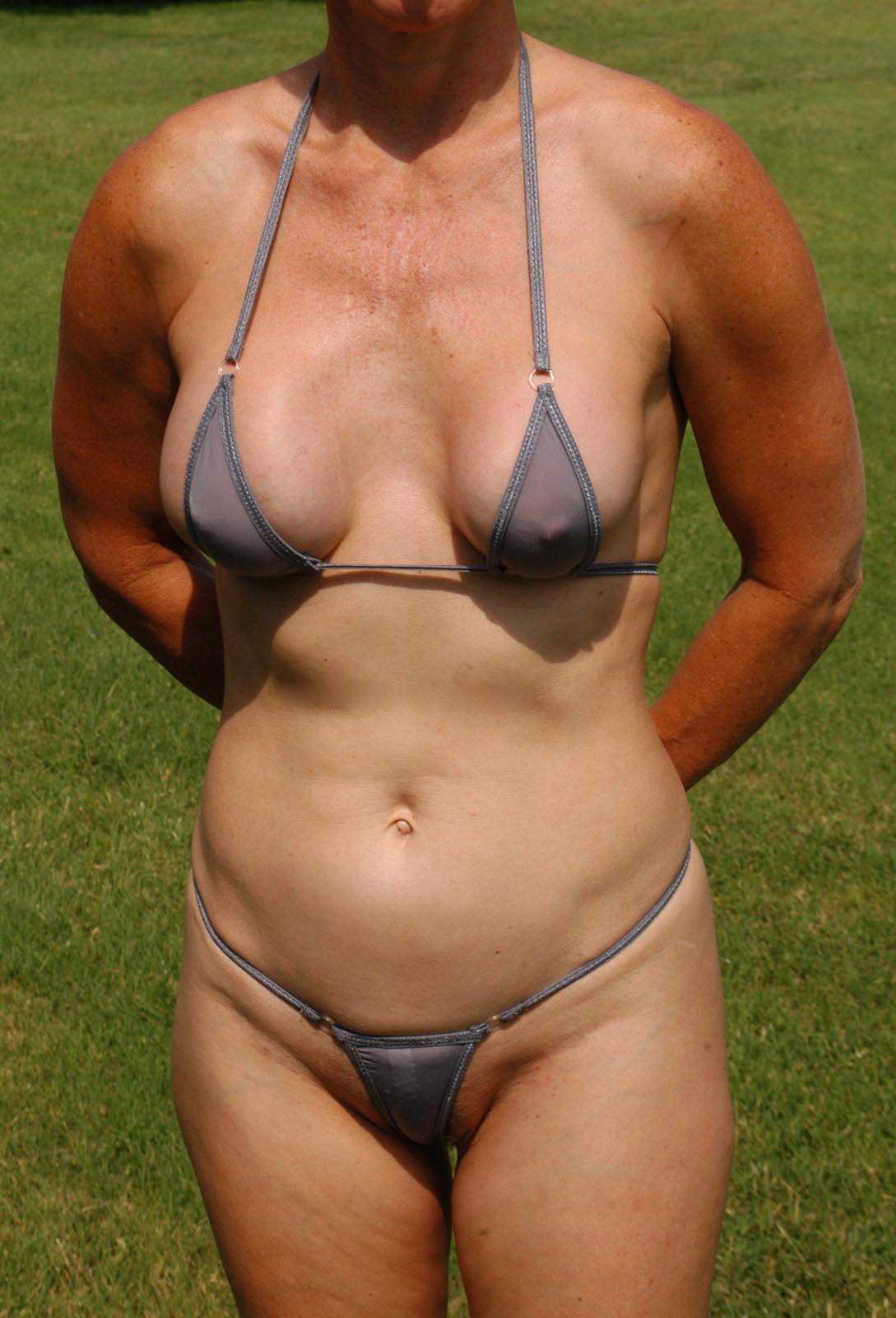 Sheer g string bikini