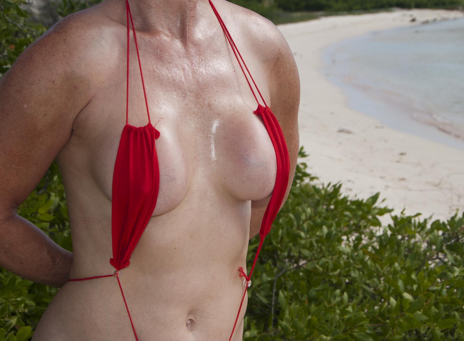 bikini micro mini slingshot thong topless
